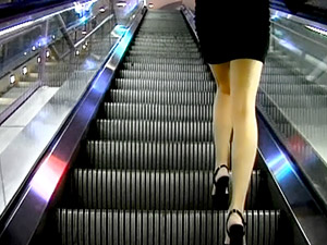 It's always exciting to walk upstairs behind a sexy girl in a mini-skirt. Let her climb faster than you do and you might be rewarded by a glimpse of her frilly panties. And, if you're really lucky, she might wear no panties and the sight will be more breathtaking.