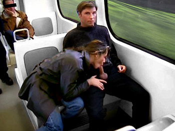 This gal is so wanton that, when she realized her boyfriend was getting a hard-on in the commuter train, she didn't hesitate to unzip his pant and greedily start sucking his stiff cock. Even if his dick remains rock hard, the stud can't believe he is part of such brazenness.